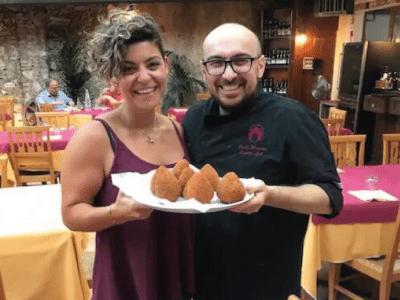 arancino cooking class isolani per caso