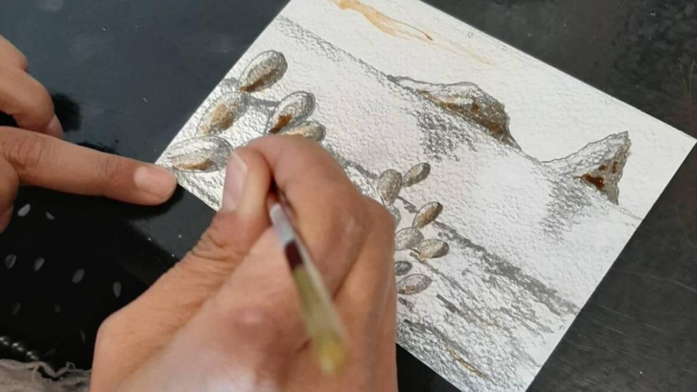 Artist for a day in Aci Trezza