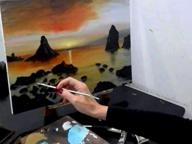 Pittura in acrilico su tela