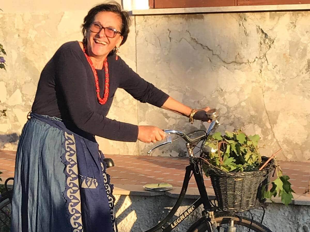 Mamma Maria in bici