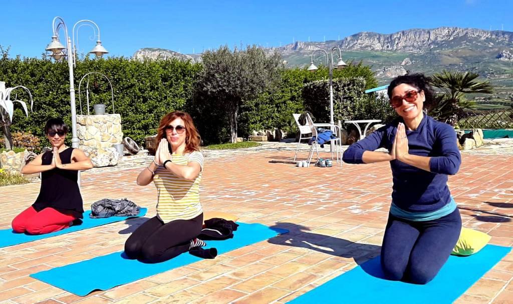 Saluto a conclusione di una lezione di yoga