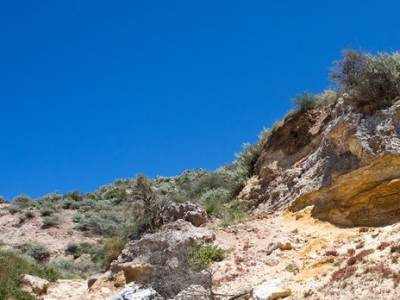 Rocce Caolino con vista mare