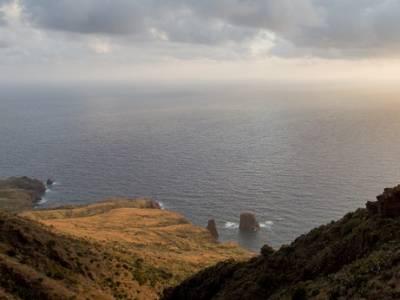 Panorama vista mare dalle rocce Caolino